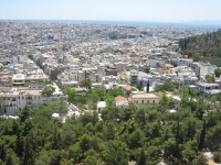 view from the top of Acropolis