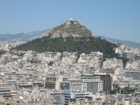 Lycabettus Hill - with the Chapel of St. George at its peak