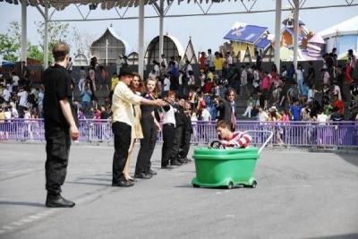 The end of the stunt show.