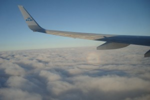 Flying to Amsterdam with KLM